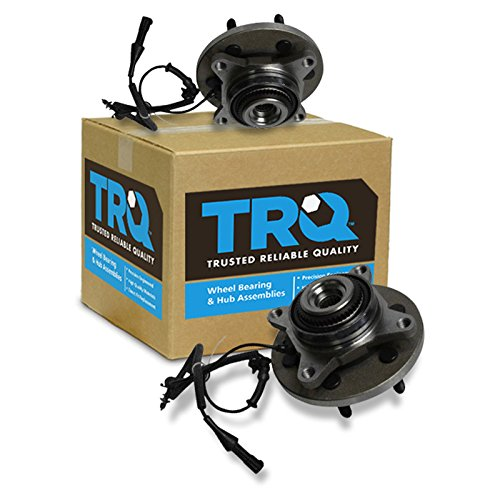 (TRQ Front Wheel Bearing & Hub Assembly Pair 2 LH RH for F150 Pickup Truck)