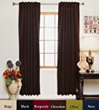 64 panel curtain - Blackout Curtain Chocolate Rod Pocket Energy Saving Thermal Insulated 64 Inch Length Pair
