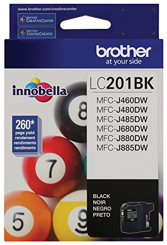 : Brother LC201BK Standard Yield Black Ink Cartridge