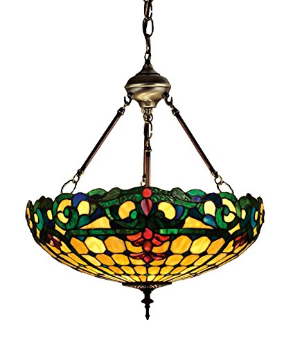 18 Inch W Duffner & Kimberly Colonial Inverted Pendant , Ceiling Fixture , Meyda