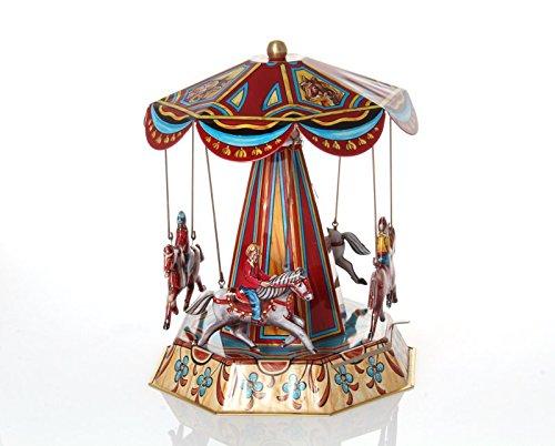 WPS Mechanical Horse Carousel - Nostalgic Tin Toy (Tin Carousel Toy)