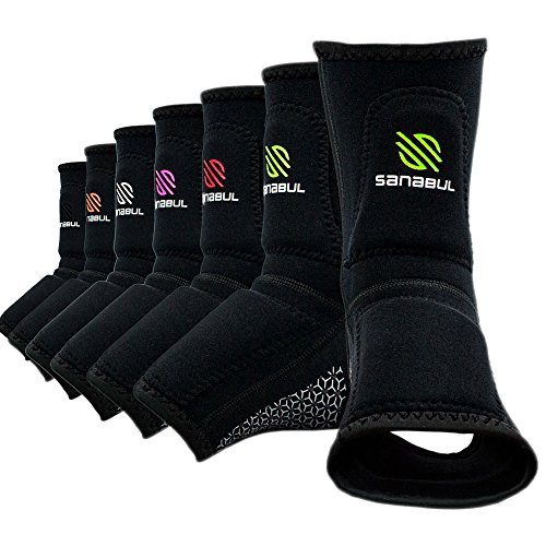 Shin Gel Guard - Sanabul Essential Striking Gel Ankle Guard for MMA Muay Thai Kick Boxing (Pair) (Green, S/M)