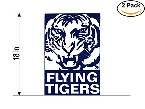 Flying Tigers Airlines Airplane Sticker Decal 2 Stickers Huge 18 ()