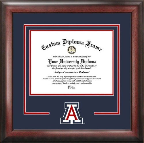 University of Arizona Wildcats - College Logo - Spirit Mat Cutout - Diploma Frame (Memorial Stadium Panoramic Print)