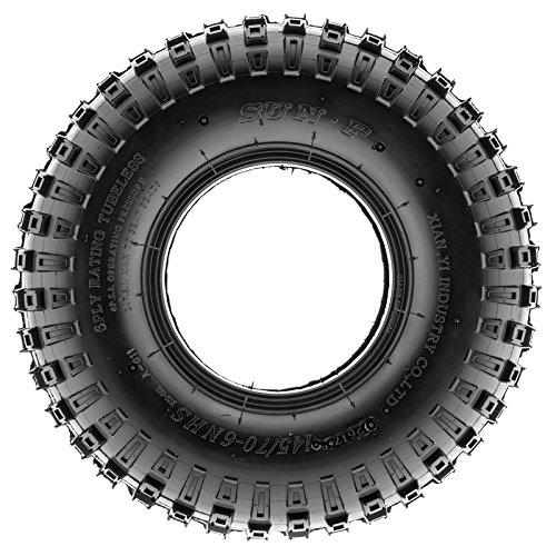 SunF 145/70-6 145/70x6 ATV UTV All Terrain Trail Replacement 6 PR Tubeless Tires A011, [Set of 2] by SUNF (Image #3)
