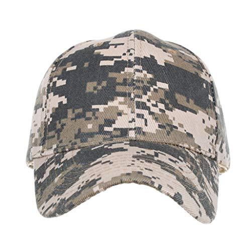HYIRI Street Unisex Vintage Washed Distressed Baseball-Cap Adjustable Camouflage Dad-Hat]()