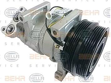 BEHR HELLA SERVICE 8FK 351 322-931 Compresor, aire acondicionado: Amazon.es: Coche y moto