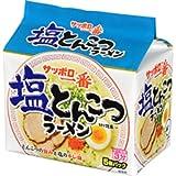 サッポロ一番 塩とんこつラーメン 5個パック×6袋  ヒガシマル袋めん1パック