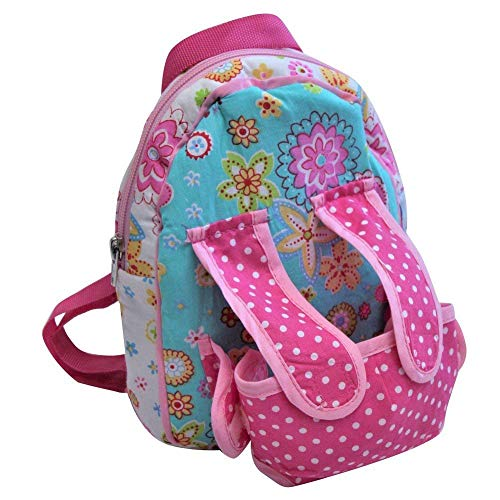 Baby Whitney Patchwork Calico Pink Doll Backpack Carrier