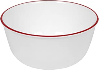 product image for Corelle Livingware 28-Ounce Super Soup/Cereal Bowl, Red Band (3 Bowls)