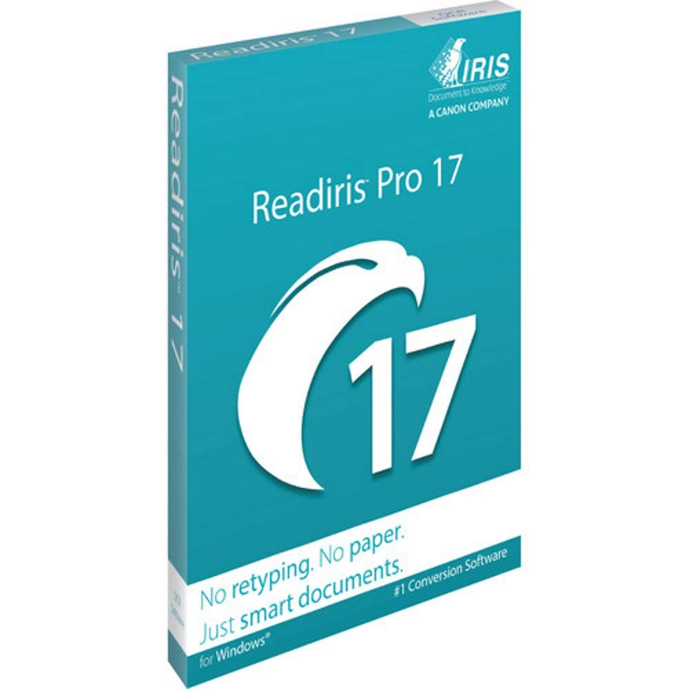 Readiris Pro 17 OCR, PDF and Document Management Software for Windows DVD by ReadIRIS