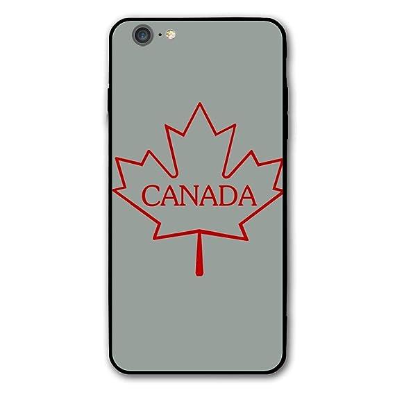timeless design a5d08 ecb86 Amazon.com: iPhone 6 Plus Case Canada Maple Leaf Protective Case ...