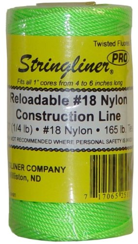 Replacement Roll Stringliner 35115 270 Twisted Nylon Construction Line Fluorescent Green 1//4-lb