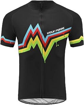 Uglyfrog Ropa Conjunto Traje Equipacion Ciclismo Hombre Verano con 3D Acolchado De Gel, Maillot Ciclismo + Pantalon/Culote Bicicleta para MTB Ciclista Bici DXMX07: Amazon.es: Deportes y aire libre