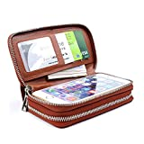 XeYOU Women 6.5inch Multi-function Zipper Leather Wallet Case with Card and Money Slots for IPhone 7 SE 5s 6s 6 Plus and Samsung Galaxy S4 S5 S6