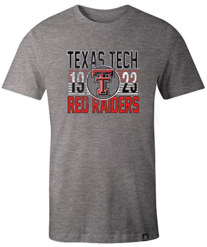 - NCAA Texas Tech Red Raiders Adult NCAA Retro Stacked Image One Everyday Short sleeve T-Shirt, XX-Large,HeatherGrey