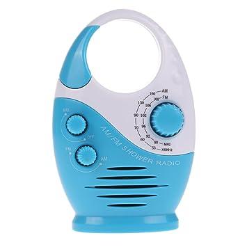 alloet waterproof bathroom radio mini am fm hanging shower radio 3 colors with built - Bathroom Radio