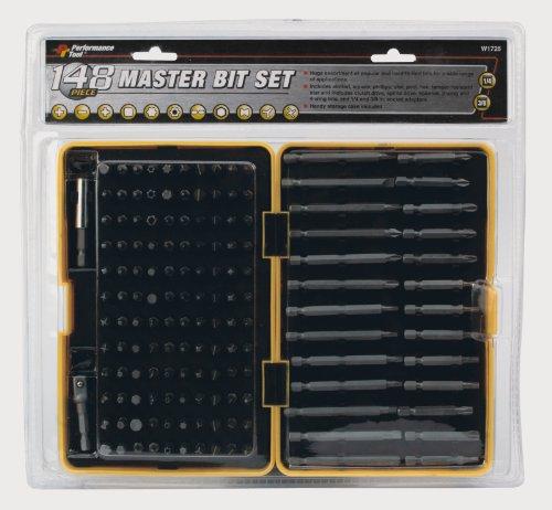 Performance Tool W1725 148-Piece Master Bit Set 148 Piece Set