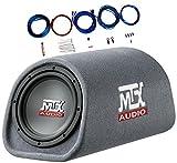 MTX RT8PT 8' 240 Watt Amplified Loaded Subwoofer Tube Audio Set w 8 Ga. Amp Wiring Kit
