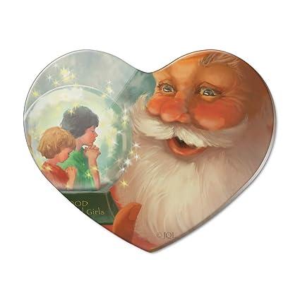 Amazon Com Christmas Holiday Santa And Good Boys Girls Heart