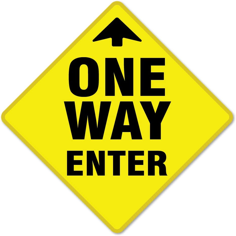 SIgnMission Coronavirus One Way Enter Arrow Non-Slip Floor Graphic 3 Pack of 7 Vinyl Decal Protect Your Business Work Place /& Customers /Made in The USA,Model Number FD-X-7-3PK-99977