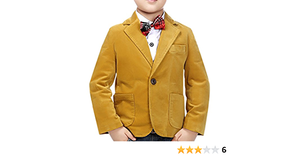 jiayou Child Kid Boy Button Casual Coat Outwear Blazer Jacket