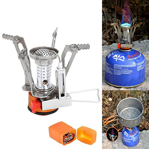 Oven Gas Aga - Camping Stove LoShane Ultralight Mini Outdoor Backpacking Camping Stove with Piezo Ignition, Germany Design with 12-month Warranty