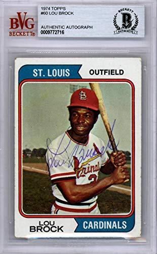 Louis Cardinals Baseball Card Sports Memorabilia, Fan Shop & Sports Cards Baseball Trading Cards 1974 Topps #60 Lou Brock St