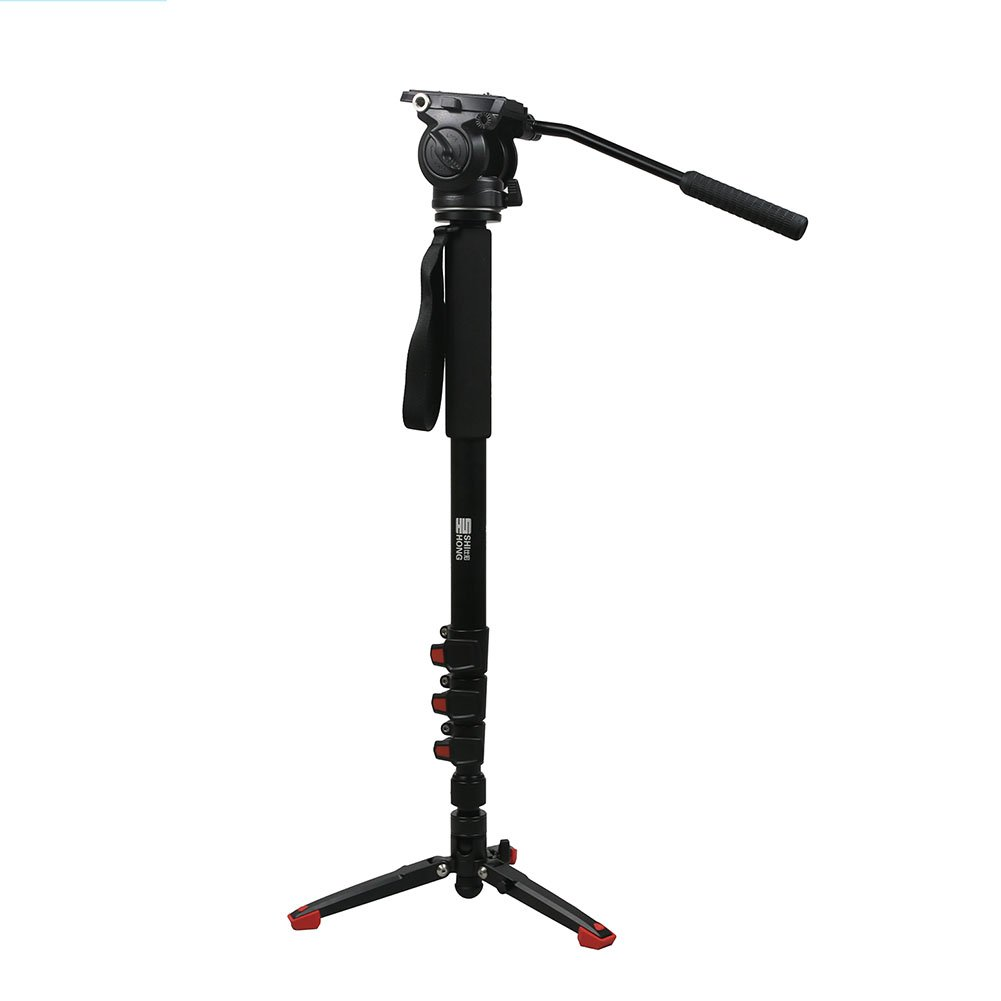 Camera Monopod,Monopod with Feet,SH SHIHONG Lightweight Aluminum Telescopic Camera Monopod with Fluid Head and Tripod Base for DSLR Video Cameras