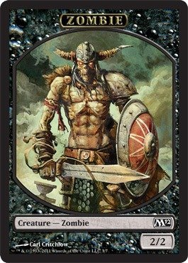 - Magic: the Gathering - Zombie Token - Magic 2012