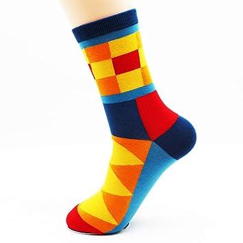 LILIKI@ Otoño E Invierno Nuevos Calcetines Largos De Algodón De Colores Hombres De Moda Calcetines De Color Funky (4 Pares): Amazon.es: Deportes y aire ...