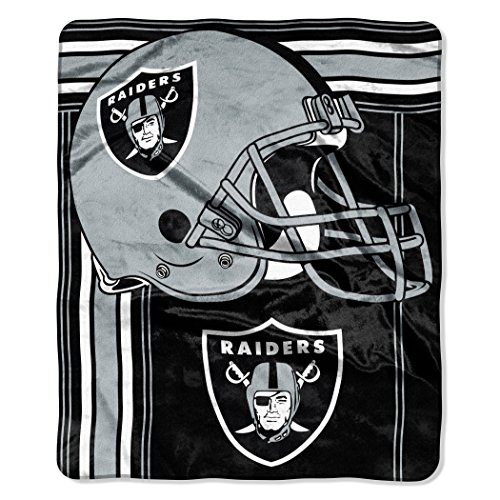 Blanket Oakland Nfl Raiders Fleece - The Northwest Company NFL Oakland RaidersTouchback Plush Raschel Throw, 50