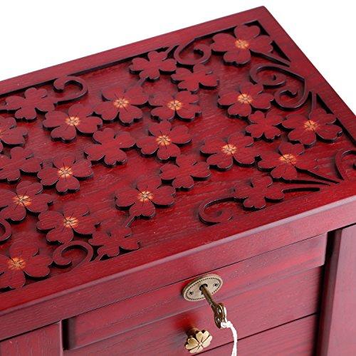 ROWLING Schmuckkasten Holz schmuckkoffer Schmuckschatulle Schmuckkästchen Holzbox MG011 -