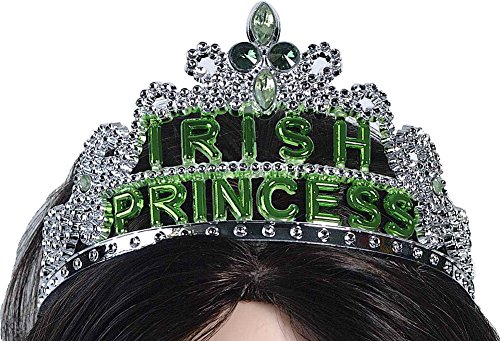 Forum Novelties St. Patricks Day Irish Princess Tiara Headband Party Accessory