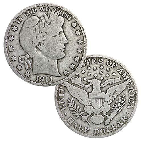Barber 90% Silver .50c Half Dollar Circulated