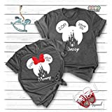 Custom Disney Shirts, Minnie Mickey Mouse Tops, Matching Family Disneyland Vacation Trip T-shirts