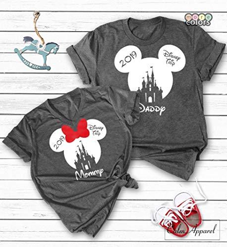 Custom Disney Shirts, Minnie Mickey Mouse Tops, Matching Family Disneyland Vacation Trip T-shirts