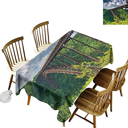 Tim1Beve Anti-Fading Tablecloths USA Canyon Rim Visitor Center Photo High-end Durable Creative Home 60