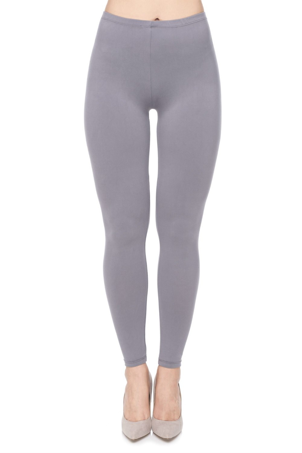 PINK PLOT Basic Printed Leggings Patterned High Elasticity Pants for Women Girls Extra Plus-Fit 3x-5x Grey