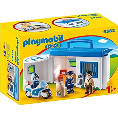 PLAYMOBIL Take Along Police Stationed: Toys & Games