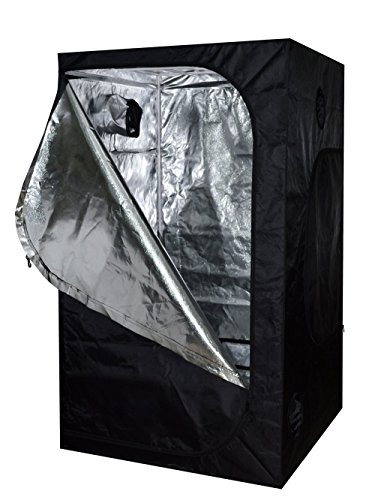 SunStream 36″x36″x80″ Hydroponic Grow Tent for Indoor Seedling Plant Growing, Observation Window, Water-Resistant for Indoor Seedling Plant Growing, 3×3