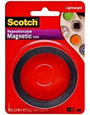 Scotch Brand Scotch 0.5-Inch x 4-Feet Magnetic Tape (MT004.5), pack of 1, white
