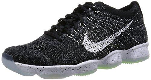 Nike Womens Zoom Fit Agility Top Sneakers Stringate Nero / Bianco / Grigio Scuro / Volt
