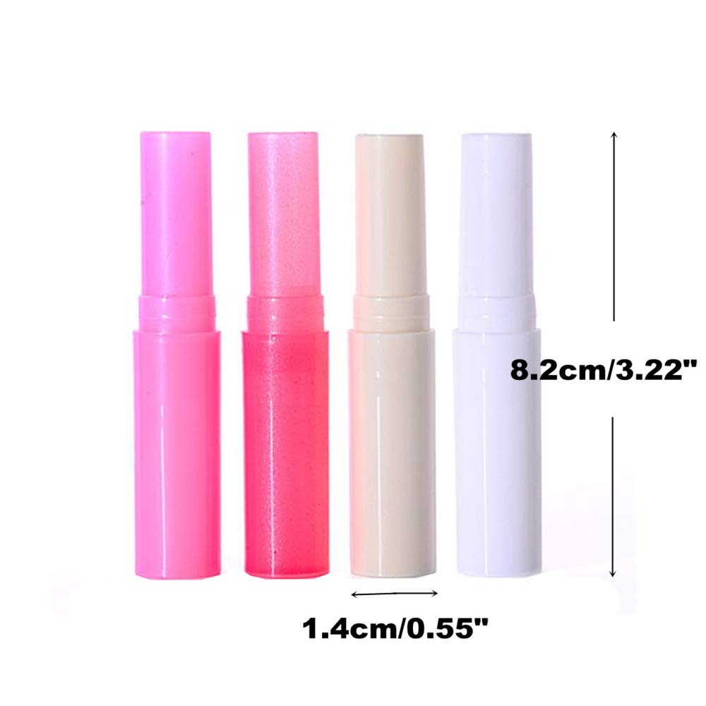 Color al Azar ISKYBOB 20 Piezas Tubos de B/álsamo Labial Vac/íos 3.2g Recipientes Cosm/éticos Rellenables Contenedor de Barra de Labios Hecho en Mano