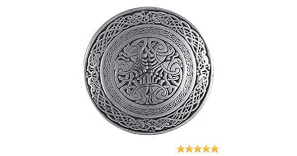 Circular Celtic Bird Kilt Belt Buckle