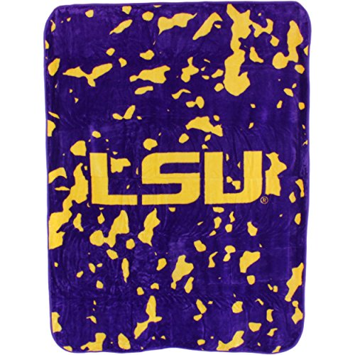 College Covers Louisiana State Tigers Throw Blanket/Bedspread (Online Tv Outlet Stores)
