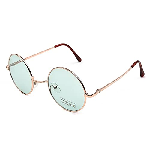 Topgrowth Uomo Donne Piazza Rotonda Annata Rispecchiato Occhiali Da Sole All'aperto Gli Sport Glasse