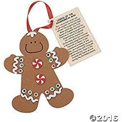 Legend of the Gingerbread Man Foam Ornament Craft Kit-makes 12