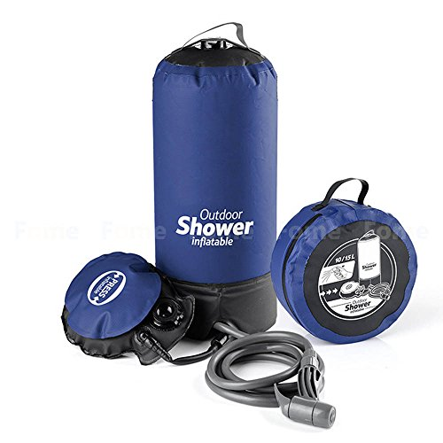 Best Buy! iDeep Camping Shower Bag, 11L/2. 9 Gallons Outdoor Inflatable Shower Bag Pressure Shower W...