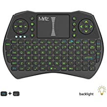 Miritz I9 Mini 2.4GHz Wireless Touchpad Mouse with Keyboard for PC, PAD, Google Android TV Box, HTPC, IPTV Color Black